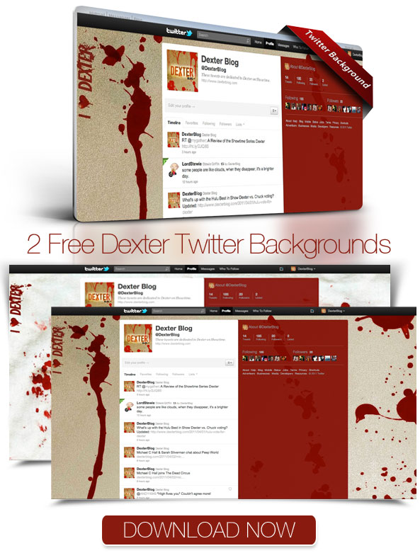 Free Dexter Twitter Backgrounds